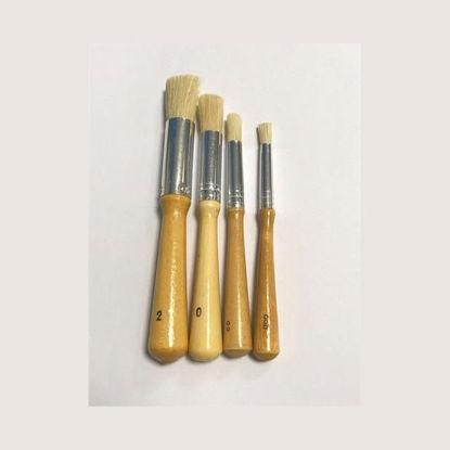 Afbeeldingen van Stencil tamponeer penselen