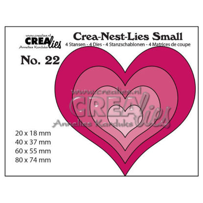 Picture of 4x Hearts - Crea-Nest-Lies Small dies