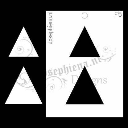Driehoeken - figuur-stencil van Josephiena`s Design