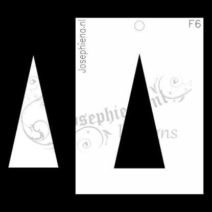 Driehoek - figuur-stencil van Josephiena`s Design