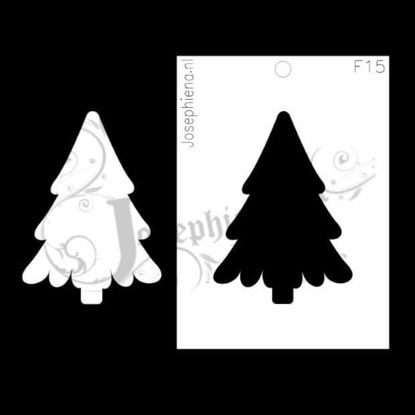 Kerstboom - figuur-stencil van Josephiena`s Design