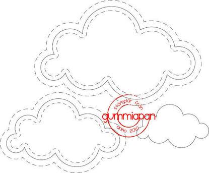 Afbeeldingen van Cloud set - stansen (normaal €10,00)