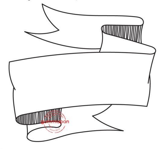 Afbeeldingen van Banner  -stempel met stans - Gummiapan - (normaal €8,50)