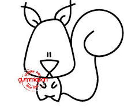 Afbeeldingen van Eekhoorn -stempel met stans - Gummiapan - (normaal €9,50)