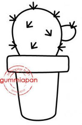 Picture of Cactus -stempel met stans - Gummiapan - (normaal €6,00) - kopiëren