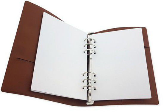 CraftEmotions Ringband Planner - voor papier A5-148x210mm - Cognac bruin