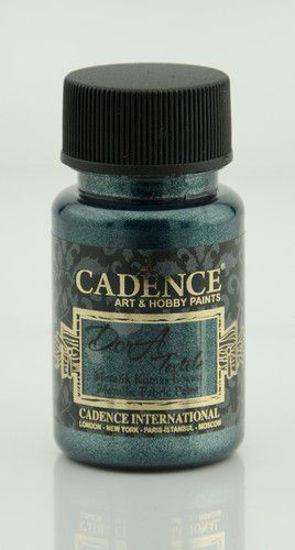 Cadence Dora metallic textiel verf Petrolium