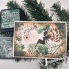 Voorbeeld met de Denneappel met tak - stencil van Josephiena`s