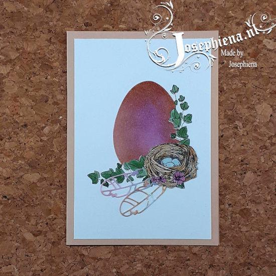 Kaart: Ei met klimop gemaakt door Josephiena