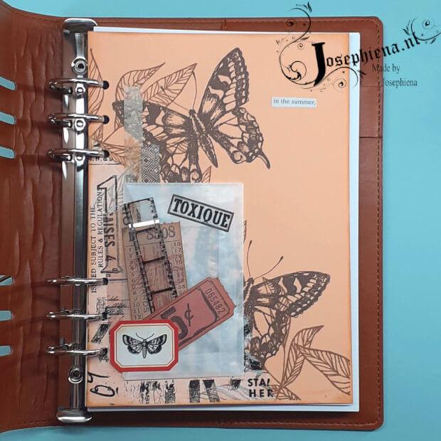 Voorbeeld gemaakt met Idea-ology Tim Holtz Clipping Stickers Book