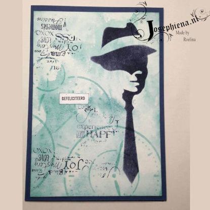 Kaart: Man met stropdas gemaakt door Roelina