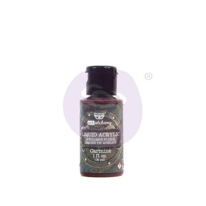 Finnabair Art Alchemy Liquid Acrylic Paint Carmine, 30 ml