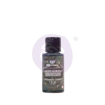 Finnabair Art Alchemy Liquid Acrylic Paint Avocado Green, 30 ml