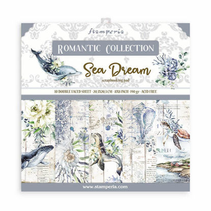 Stamperia Romantic Sea Dream 8x8 Inch Paper Pack