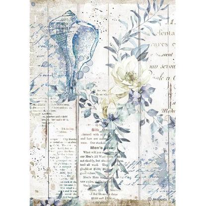 Stamperia Rice Paper A4 Romantic Sea Dream Shells
