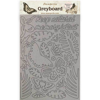 Stamperia Greyboard A4 Amazonia Butterflies