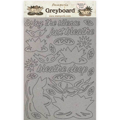 Stamperia Greyboard A4 Amazonia Waterl Lily