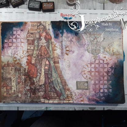 Art journal: Lady Vagabond gemaakt door Josephiena