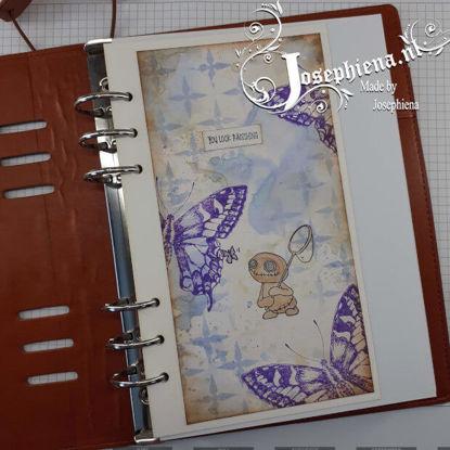 Art journal: Lennart met vlinder gemaakt door Josephiena