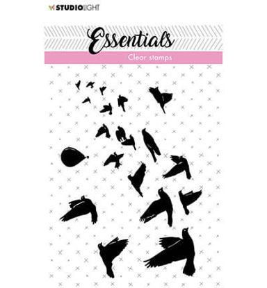 Clear Stamp Birds/hot air balloon Essentials nr.27