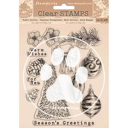 Picture of Stamperia Romantic Christmas Clear Stamps
